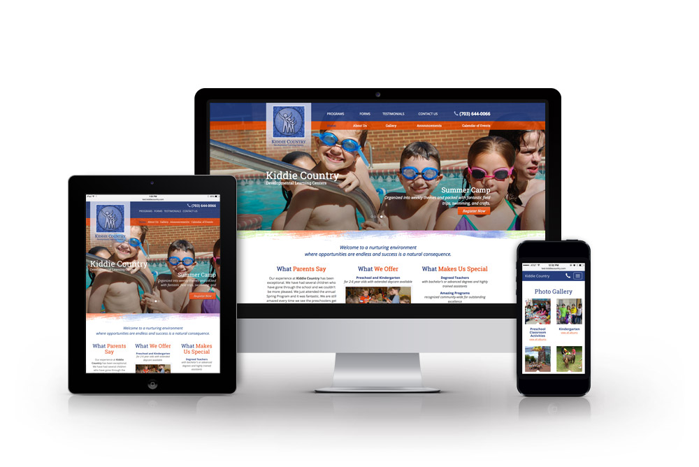 Kiddie Country Responsive Website Desgin